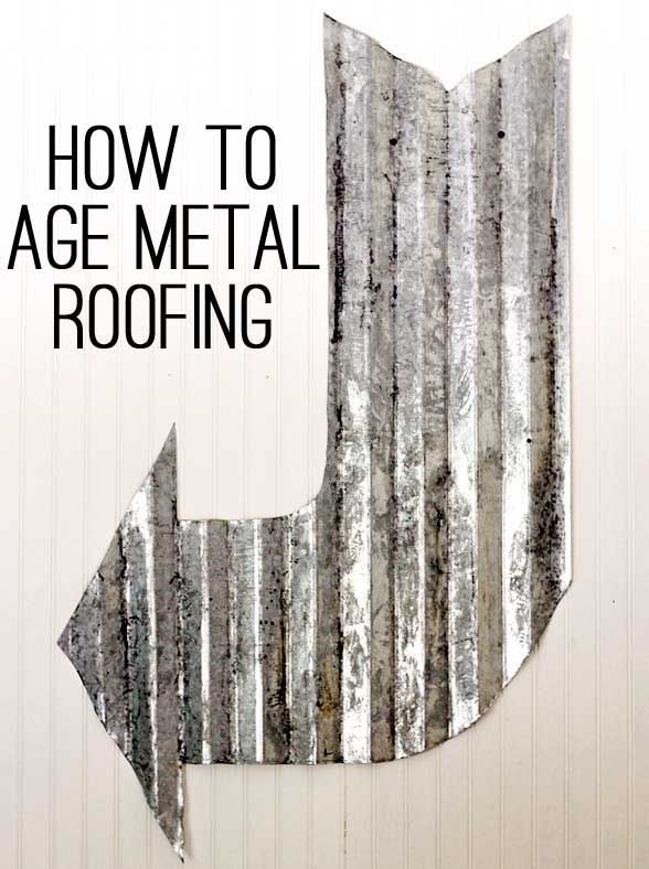 Learn how to age galvanized metal with this quick and easy technique in minutes. A fool proof way to get the vintage look in minutes!