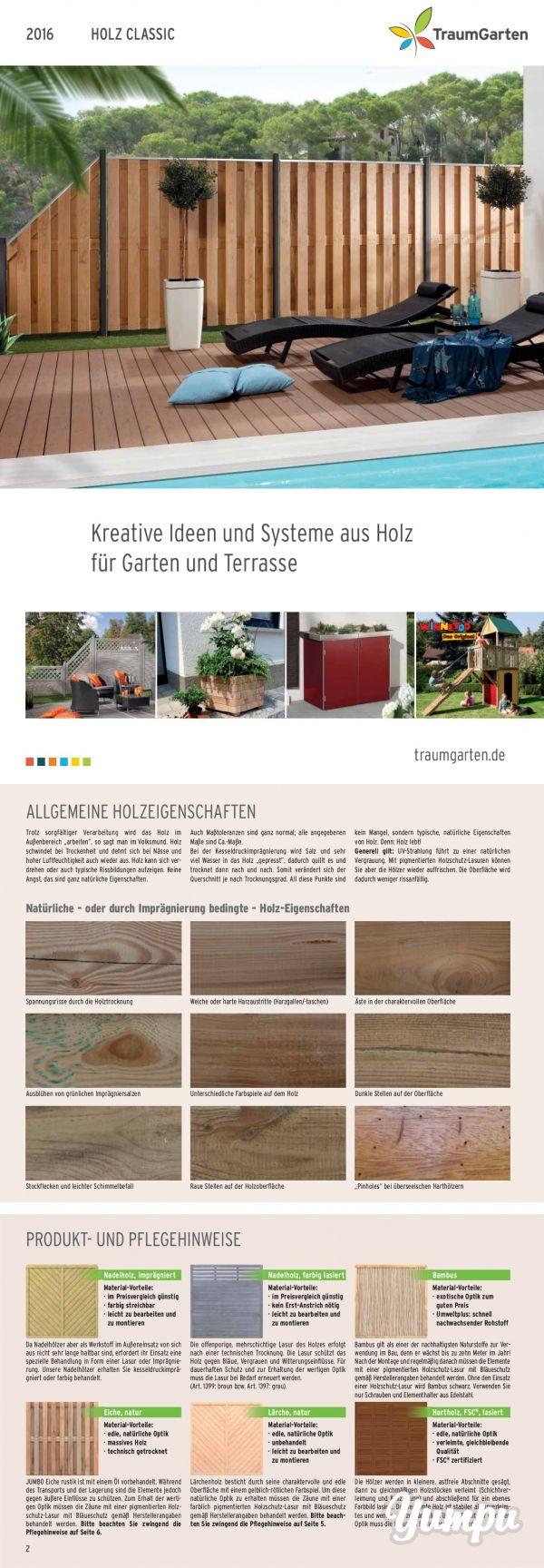 Traumgarten Holz Classic Sichtschutz - Traumhafter Sichtschutz aus Holz.