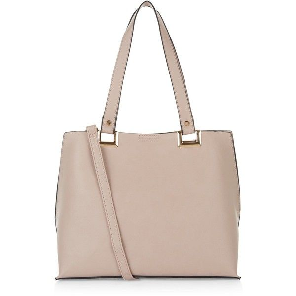 New Look Cream Shopper Bag ($26) ❤ liked on Polyvore featuring bags, handbags, oatmeal, cross body, new look bags, cream handbags, shopping tote bags and cream purse
