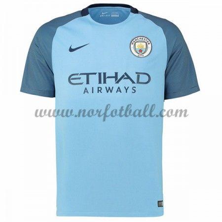 Billige Fotballdrakter Manchester City 2016-17 Hjemme Draktsett Kortermet