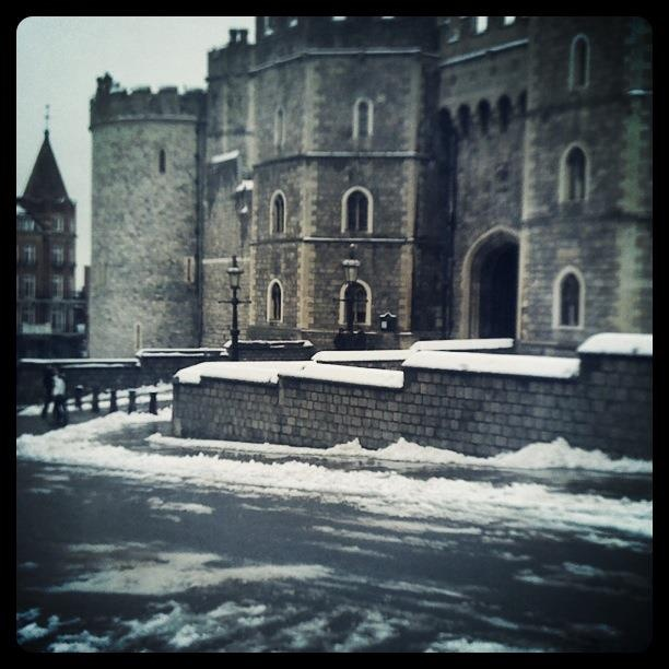 Day of hot chocolates in snowy Windsor
