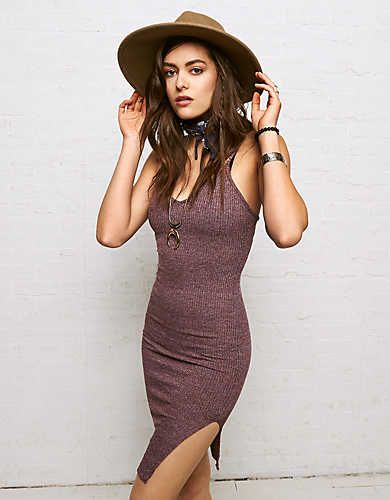 Don't Ask Why Body Con Dress , Wine | American Eagle Outfitters