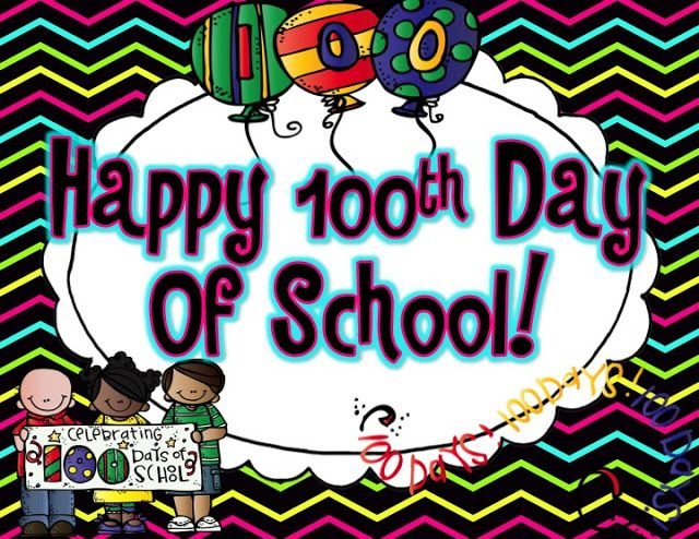 100th Day with b/w activity sheets
