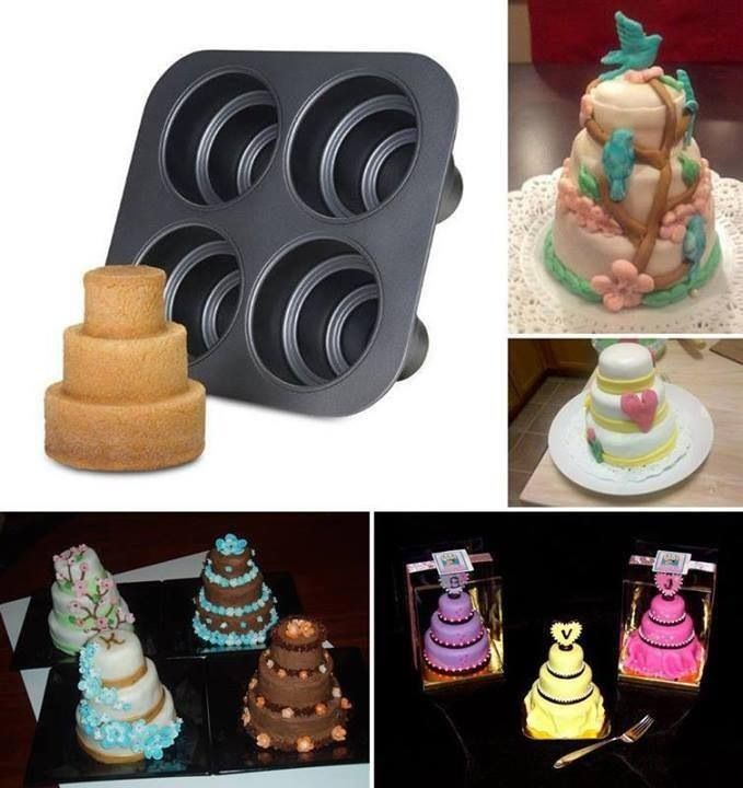 3 Tiers Mini Cake Mold