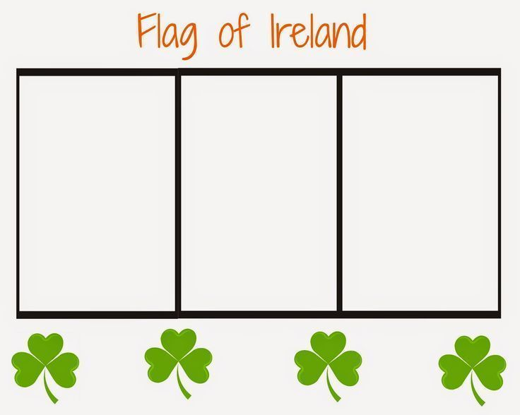 Where To Wednesday Ireland Flag Coloring Pages Irish Flag