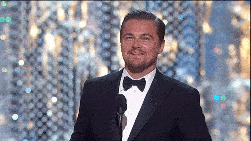 America–and Kate Winslet's–long nightmare is over: after four previous attempts, Leonado DiCaprio finally has an Oscar to call his own. The 41-year-old actor chased down that dish of raw bison liver with a Best Actor trophy for his rugged performance in The Revenant, a win that was expected and yet still