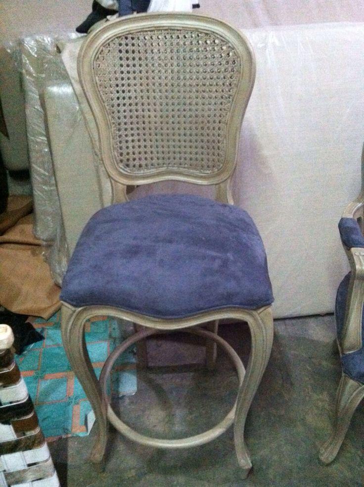Bar stool bellagio blue