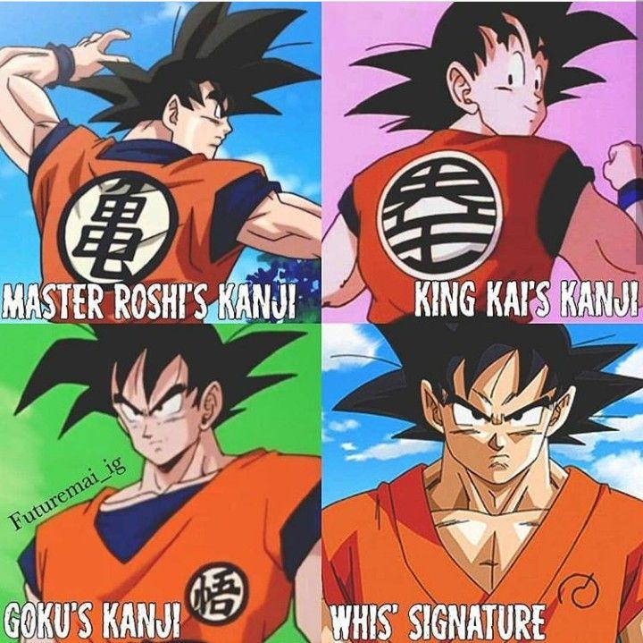 Goku S Kanji Symbols Anime Dragon Ball Dragon Ball Dragon Ball Super Manga