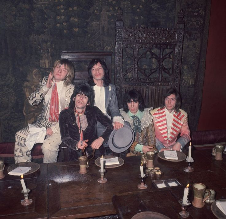 Rolling Stones during recording of Beggars Banquet