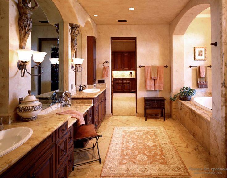 Оформление ванной комнаты в колониальном стиле