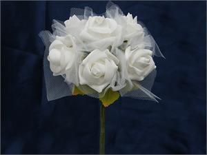 72 x SPECIAL EDITION Tres Beau Silk Roses - White | eFavorMart