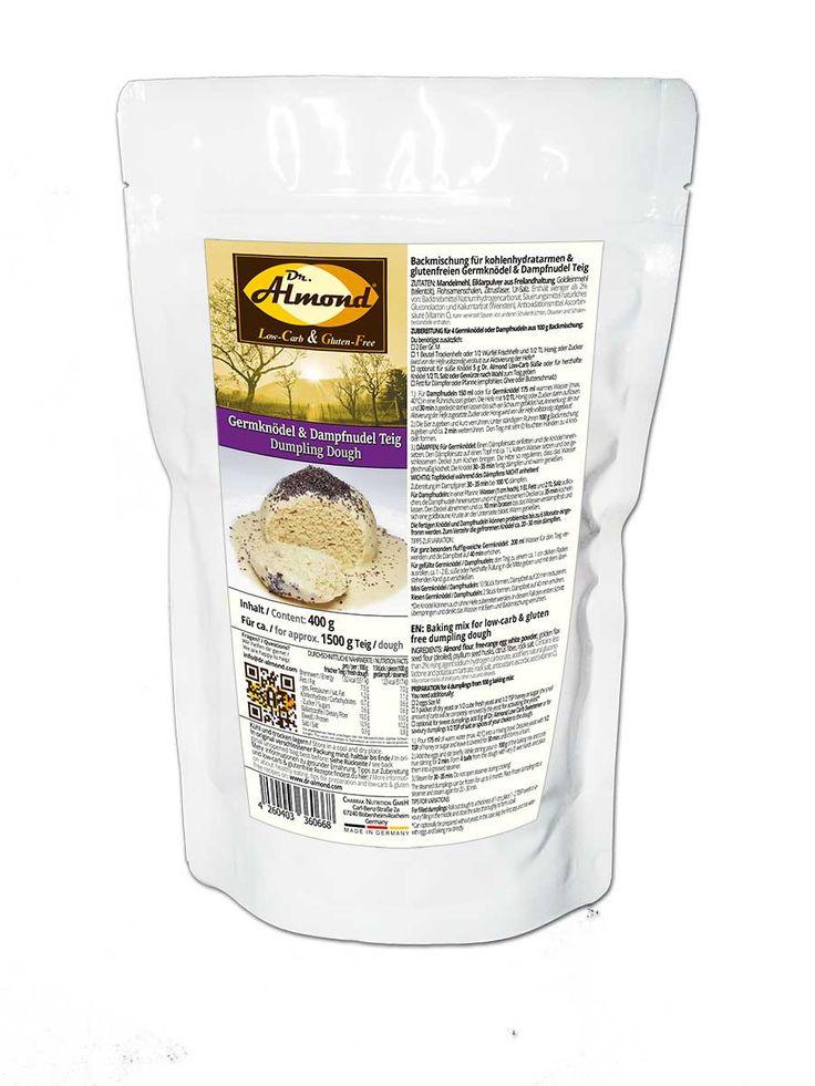 Germknödel & Dampfnudel Teig Backmischung low-carb glutenfrei sojafrei keto paleo kalorienarm - Dr. Almond lowcarb glutenfrei