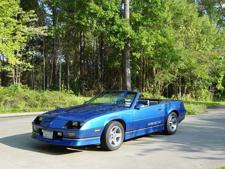 blue 1989 chevrolet camaro iroc z convertible 305 v8 for sale camaro cars for sale pinterest. Black Bedroom Furniture Sets. Home Design Ideas