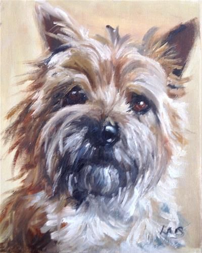 """Daily Paintworks - """"Tilly"""" by Louise Brown"""