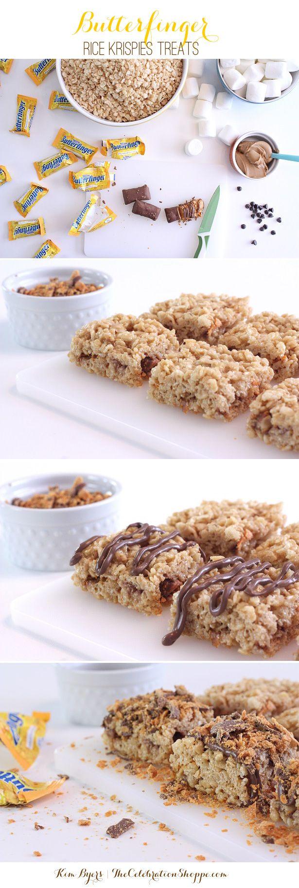 Butterfinger Rice Krispies Recipe Treats