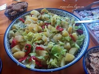 Warm or cold potato and spinach salad / Sałatka ziemniaczana ze szpinakiem na ciepło....lub zimno