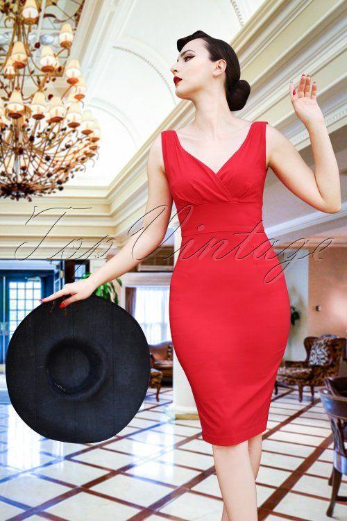 88ed2c467dedb4 The Isabella Pencil Dress in Lipstick Red