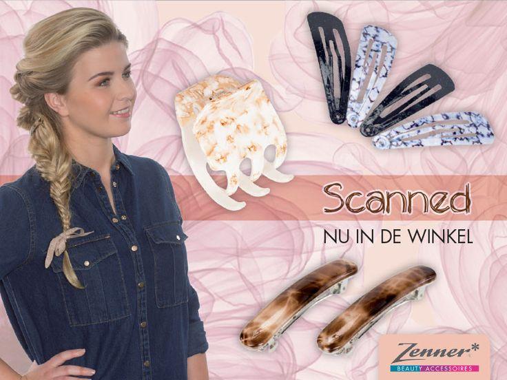 Nieuw van Zenner! Marmer en transparantie met Scanned. Ontdek deze onweerstaanbare haaraccessoires op: http://www.zenner.nl/inspiratie/scanned/
