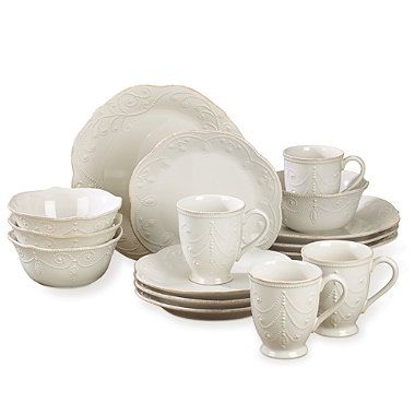 Lenox® French Perle White 16-Piece Set - BedBathandBeyond.com