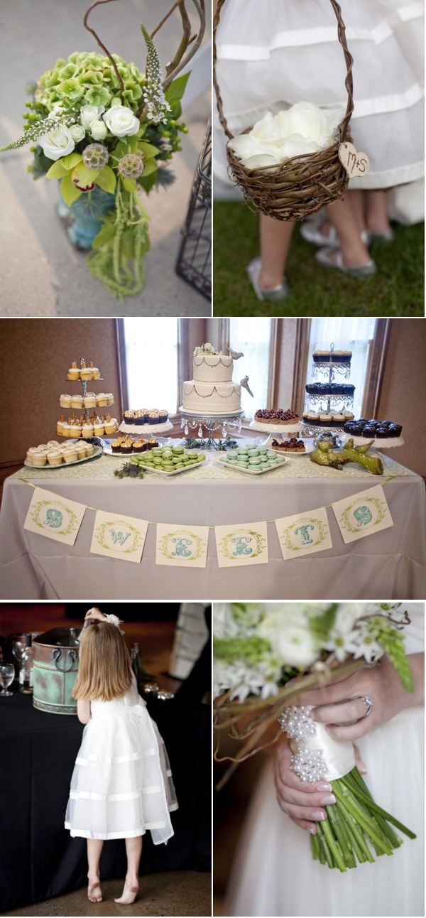 Beautiful sweets table from @Style Me Pretty