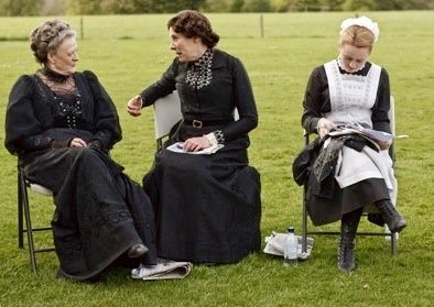Maggie Smith Lady Violet Crawley Dowager Countess of Grantham Phyllis Logan Mrs Elsie Hughes Downton Abbey Behind the scenes