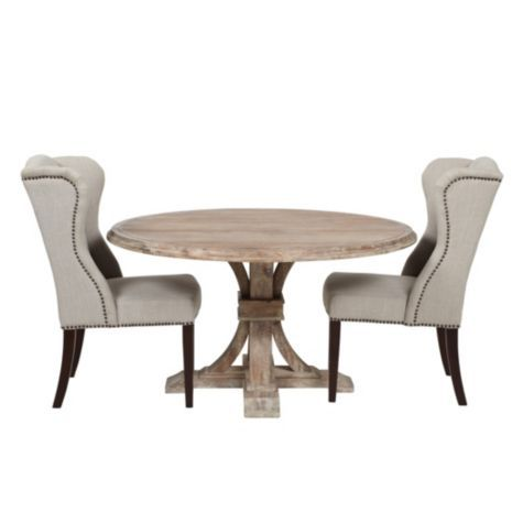 Archer round dining table from z gallerie keeping room for Z gallerie dining room chairs
