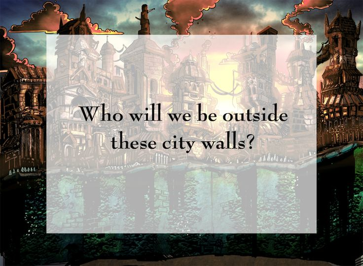 Outside These City Walls is a short story in puzzle form.  In this print-and-play card game, the player takes on the role of two jewel thieves, Amy-Bax and Zeke, and attempts to flee from one end of the city to the other to the safety beyond.  The city is laid at as three columns of eight cards. Each thief only moves onto cards of their own colour, which display the internal monologues from the character. As the thief leaves their card, the card is flipped, showing the opposite thief's co...