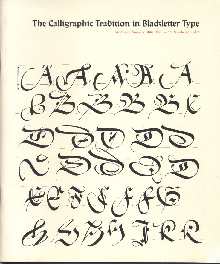 8 Best Western Calligraphy Images On Pinterest