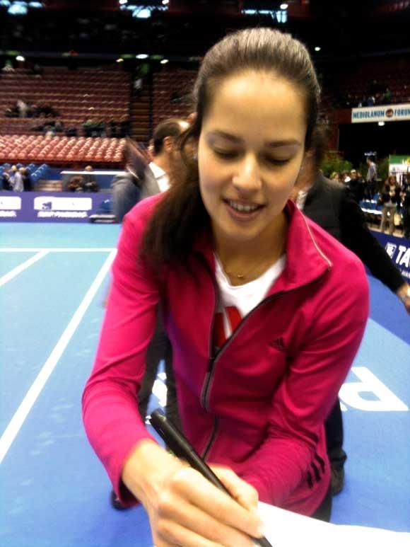 E poi, finalmente, giochi con il campione #Ivanovic #Tennis #lagrandesfida