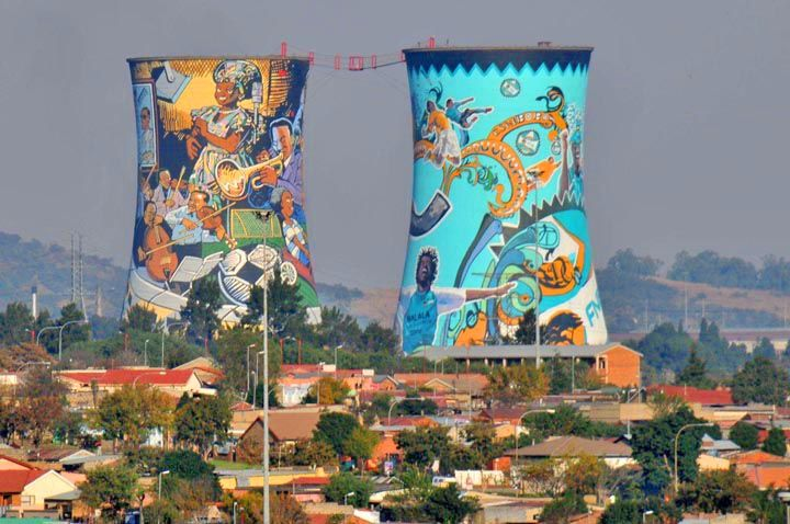 soweto-towers, soweto, south africa