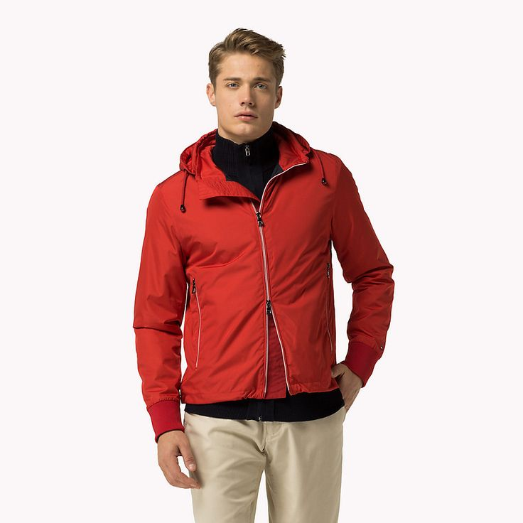 Tommy Hilfiger Regular Fit Jack Met Capuchon - apple red (Rood) - Tommy Hilfiger Jacks - hoofdbeeld