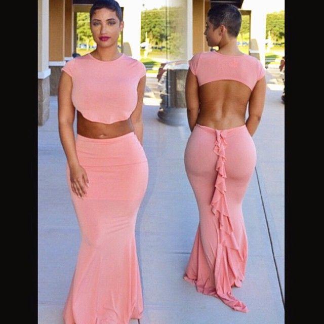 Ruffle My Feathers In Blush Dress From Tinkascloset ️ ️ Jessmolli Amazing Curves