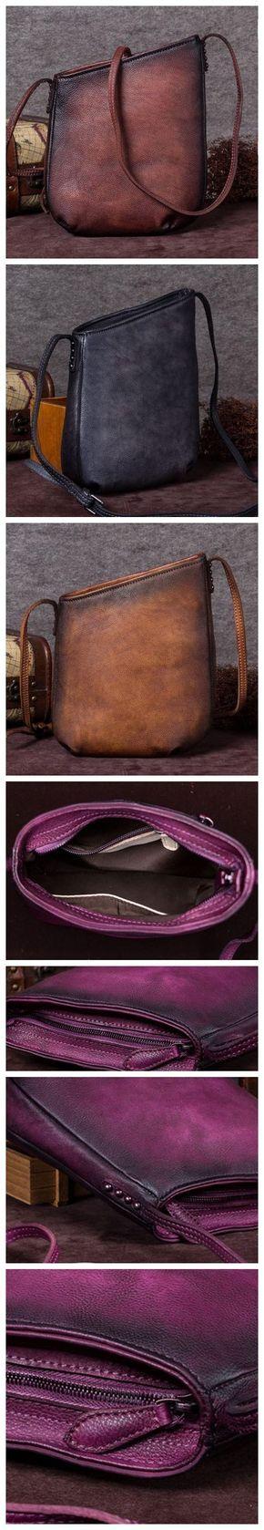 Handmade Full Grain Leather Bucket Bag, Ladies Designer Handbag, Shoulder Bag A0129