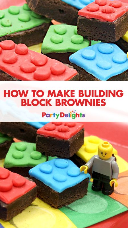 Planning a LEGO themed party? Have a go at making our building block brownies - they're  a really easy party food idea that's perfect for a kids' birthday party. You could even have a go at making LEGO brownies just for fun!