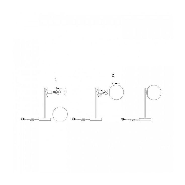 Lampe À Poser Rétro En Marbre Blanc, Laiton Et Verre – Taille : Taille Unique