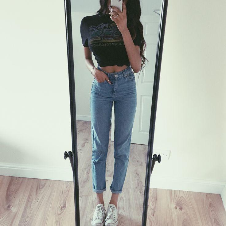 topman tshirt, topshop jeans + converse