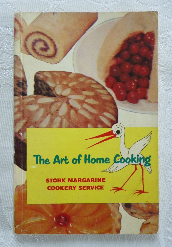 """The Art of Home Cooking"" (Stork Margarine Cookery Service, second edition, 1954) - vintage advertising / promotional recipe book"