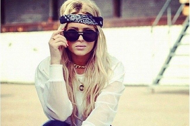 "7 Stylish Ways to Wear a Bandana Mom says, ""I think you already do most of these, but the twist is cute."""