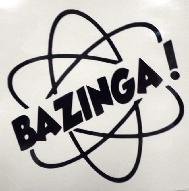 Bazinga Atom Car Truck Window Vinyl Decal Sticker Big Bang Theory Sheldon Cooper #StickerstoGo