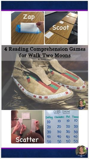 This is a set of FOUR reading comprehension and skills games to review the 4 story elements of setting, characters, plot and theme for Walk Two Moons by Sharon Creech. You can play Scoot, Scatter, ZAP, or Quiz Show style - that's 4 games in 1!