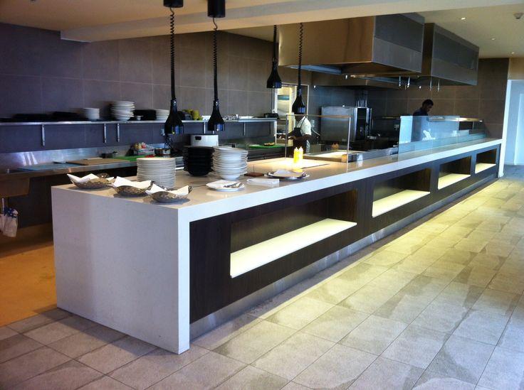 Kitchen in Flying Fish in Tokoriki.