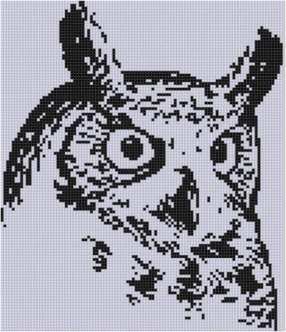 Owl Cross Stitch Pattern by MotherBeeDesigns on Etsy, $0.99