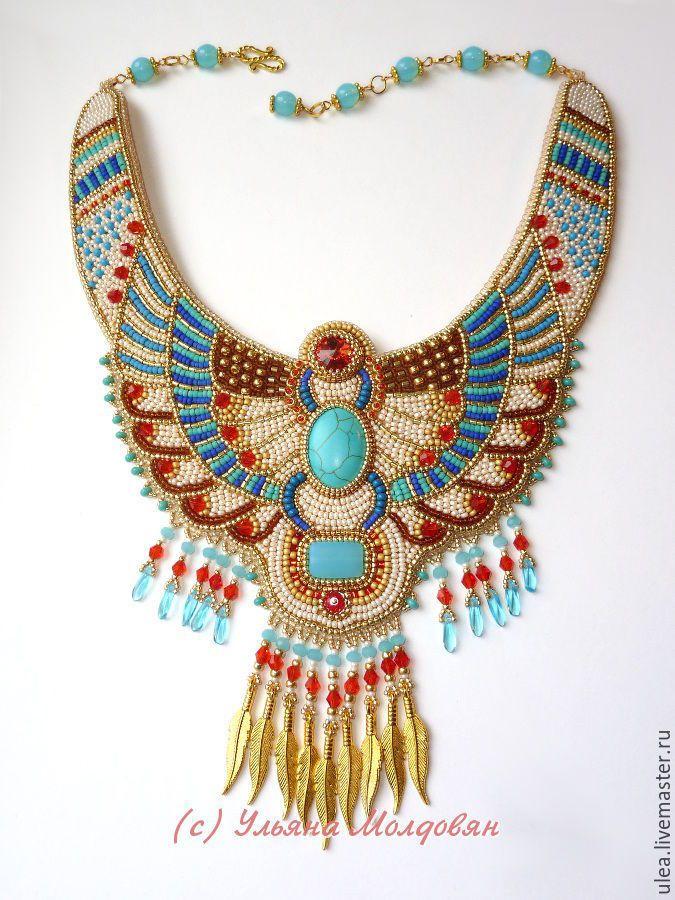 Купить Египетская амазонка - золотой, бежевый, кремовый, голубой, бирюза, алый, красный, египет