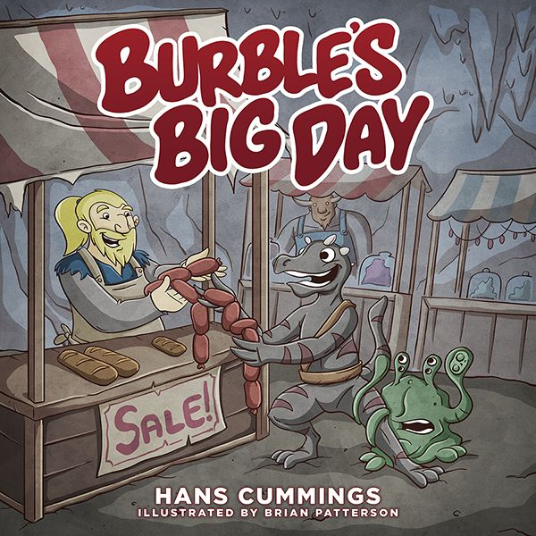 Burble's Big Day - con-exclusive short story original art & design by Brian Patterson