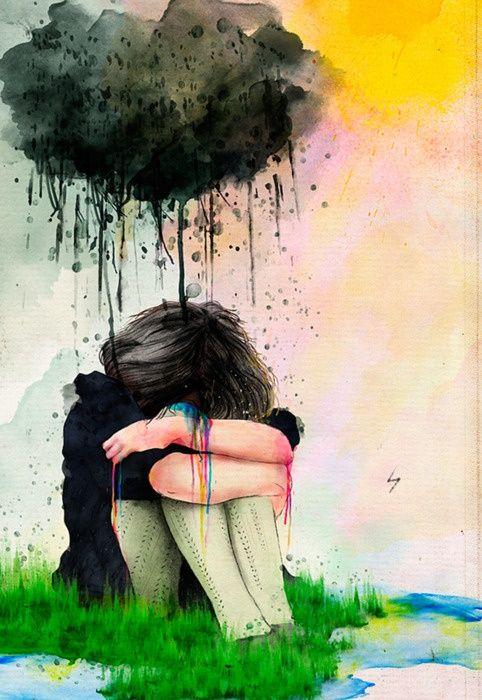 Les Ailes brisées Une âme triste et affligée trouve le repos en fusionnant avec une autre âme qui éprouve les mêmes sentiments, dont elle partage la sensibilité. Les cœurs que les souffrances de la mélancolie ont rapprochés les uns des autres ne seront pas séparés par la gaieté et l'ostentation des fêtes. Dans la tristesse se tissent des liens plus solides que dans le bien-être et la joie. Et l'Amour que les yeux auront lavé de larmes demeurera pur, beau et immortel.  Khalil Gibran