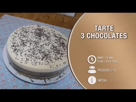 Tarte de 3 chocolates - Receita Bimby / Thermomix