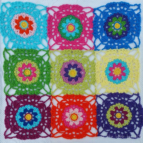 Boho Blossom Square - Instant Download - Crochet Pattern