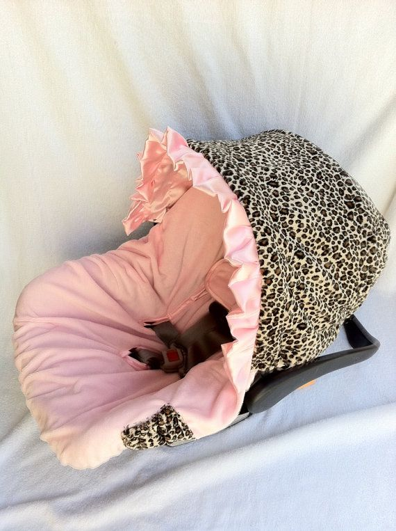Cheetah Minky Light Pink Infant Car Seat by BabyCarSeatCovers, $67.00