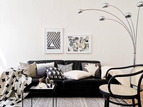 Dos colores básicos como el blanco y el negro que funcionan a la perfección. ¿Qué habitación os gusta más?