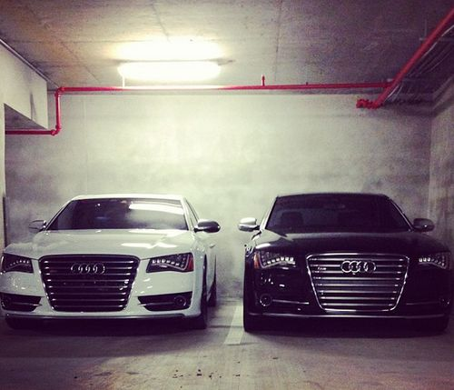 Audi A8, his an hers One day babygirl one day hahahaha!!! <3 <3 <3 <3!! I love you soo much baby!! @bhelton6
